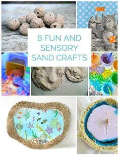 8 Fun and Sensory Sand Crafts. Fun summer play ideas for the kids!