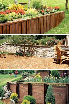 Retaining Walls: Build a retaining wall to enhance the look of your landscaping. Read more: http://www.familyhandyman.com/landscaping/retaining-wall