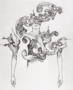 Rearranging by on DeviantArt Arte Grunge, Illustration Art, Illustrations, Arte Sketchbook, Art Drawings Sketches, Aesthetic Art, Art Inspo, New Art, Amazing Art
