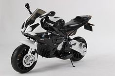 New Ride on Toy Licensed Bmw Motorcycle 12v Battery 2 Motors Rubber Eva Tires