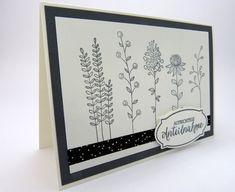 Stempelitis: Trauerkarten mit Flowering Fields