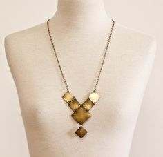 The Varo Brass Squared Y Necklace by CSfootprints on Etsy, $50.00