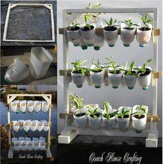 Plastic bottle planter