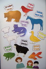 Doodle Bugs Teaching {first grade rocks!}: Brown Bear, Brown Bear printables and activities Preschool Colors, Preschool Literacy, Literacy Activities, Preschool Activities, Literacy Bags, Teach Preschool, Movement Activities, Preschool Printables, Flannel Board Stories
