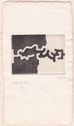 Eduardo Chillida Lasaitasun Drypoint on wove paper carton, 1983  6.5 x 8.7 cm  specimen 28/50  Signed and numbered