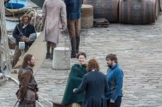 NEW* Pics of Sam and Cait Filming Outlander S2 |