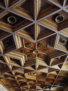 spectacular ceilings at St. Cecilia Church, San Francisco...I can't believe he carved these all by hand!