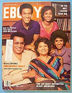 Ebony Magazine May Greg Morris Cover, Influential Black Americans Jet Magazine, Black Magazine, Ebony Magazine Cover, Magazine Covers, Vintage Black Glamour, Black Actors, My Black Is Beautiful, Beautiful Kids, Black History Facts