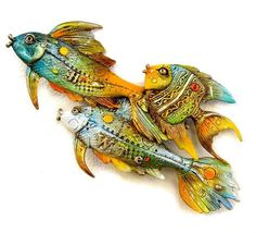 Fishes Going Left Bronze Sculpture 2014 10 in Sculpture by Nano Lopez - Bronze With Gold Patino Steel Sculpture, Bronze Sculpture, Sculpture Art, Chip Art, Ad Art, Ceramic Clay, Fine Art Gallery, Stone Art, Sculptures