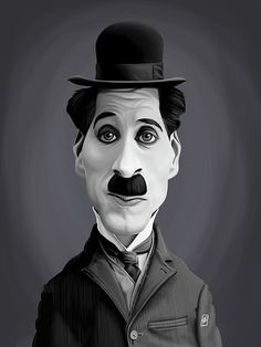 Charlie Chaplin art | decor | wall art | inspiration | caricatures | home decor | idea | humor | gifts