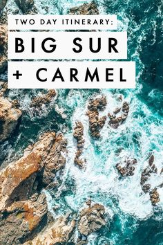 Getting ready for a Californian road trip? You need to add Big Sur to your California itinerary. After spending a weekend getaway exploring the coast of California, I& put together an itinerary that includes a stop at Carmel and Monterey! Places To Travel, Travel Destinations, Places To Go, Weekend Trips, Weekend Getaways, Couples Weekend Getaway Ideas, Weekend Breaks, Girls Weekend, Zermatt