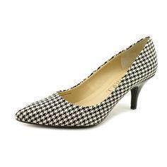 Ellen Tracy Graffiti Womens Size 8.5 Black Patent Leather Pumps Heels Shoes