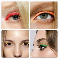 neon-eye liner #makeup #beauty
