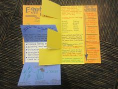 Ancient Egypt foldable book