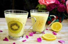 Smoothie Fruit, Milkshake, Fresh, Kiwi, Glass Of Milk, Food And Drink, Vegan, Drinks, Tableware