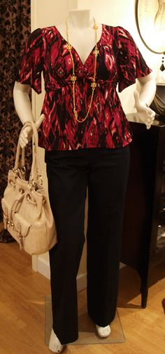 a55779e74ad Our Marisa Top in Red Tribal from Lee Lee s Valise (Big Brooklyn Style on  TLC