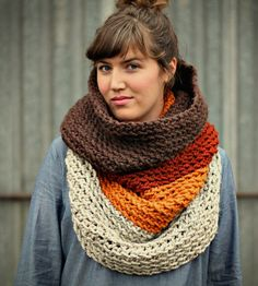 Ombré Cowl Neck Scarf - Amber | Move on from skimpy scarves that favor fashion over function w... |