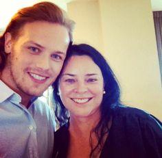 Look who's here? from Outlander Starz instagram: Sam Heughan and Diana Gabaldon!!!