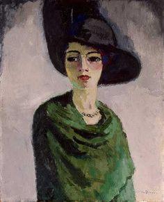 Femme au chapeau noir by Kees Van Dongen