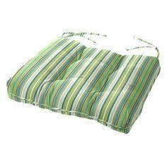 Cushion Source 24.5 x 20 in. Striped Sunbrella Chair Cushion Foster Surfside - 5CB8U-56049, Durable