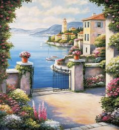 Mediterranean Patio by John Zaccheo