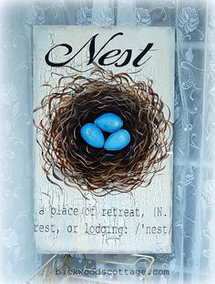 DIY How to Paint a Bird's Nest on Wood using chalk paint. This nest painting tutorial shows how you can use just about any paint to create art. Painted Rock Cactus, Painted Rocks, Easy Art Lessons, Painted Wood Signs, Flower Patch, Beginner Painting, Easy Watercolor, Subway Art, Learn To Paint