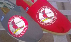 $120.00 St Louis cardinals hand painted Toms-order a pair today!