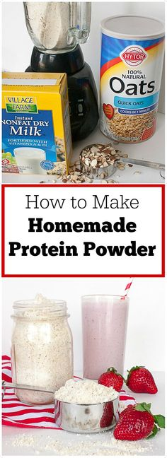 Only 3 ingredients, you probably have on hand: HOW TO MAKE HOMEMADE PROTEIN POWDER | @TspCurry - For more healthy recipes: http://TeaspoonOfSpice.com