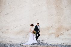 Bride and groom. Wedding at Cliffs. Wedding Photoshoot, Dress Wedding, Baltic Sea, Wedding Images, We The People, Beautiful Landscapes, Mother Nature, The Good Place, Groom