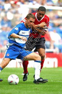 Reading FC player Nicky Forster v Des Walker Notts Forest photograph picture