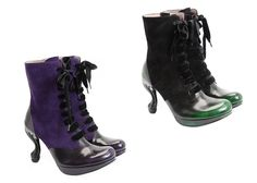 Fall Winter 2013 Fluevog. Queen Transcendent Victoria in purple and green. *swoon*