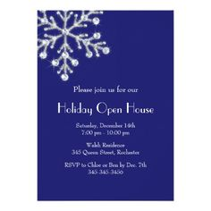 This Deals Holiday Crystal Snowflake Open House (indigo) 5x7 Paper Invitation Card we are given they also recommend where is the best to buy