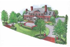 Circular Driveway Design Ideas Half Circle Landscaping Landscape Designs For House With By Circle Driveway Landscaping, Driveway Design, Landscaping Trees, Front Yard Design, Circular Driveway, Modern Landscaping, Driveway Ideas, Landscaping Design, Landscaping Software