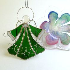 New Five Inch Handmade Stained Glass Hunter by LyonsCreations
