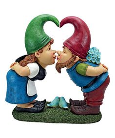 Love this Kiss & Tell Lover Gnomes Statue on #zulily! #zulilyfinds