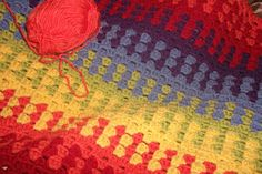 The Loopy Hooker: Rainbow Granny Stripe Blanket - Pattern