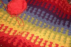 The Loopy Hooker: Rainbow Granny Stripe Blanket - Pattern