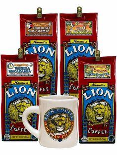 For Coffee Lovers Product Hawaiian Coffee, Lion Coffee, Coffee Creamer, Tropical Paradise, Pop Tarts, Snack Recipes, Vanilla, Chocolate, Mugs