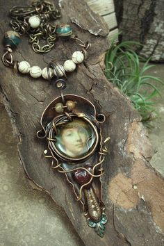 the Maiden - Mixed Media Necklace