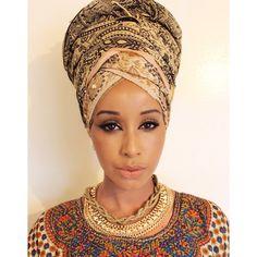 Turbanista Queen! Follow the beautiful @sagaleeya on IG for dope headwrap pictures & tutorials #Turban #Voilée #EastAfrican