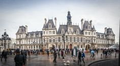 On the agenda are BHV and 'Galeries Lafayette'. In between the two is the City Hall from which you can see the Notre Da… Adventure Travel, Louvre, Street View, Europe, France, City, Adventure Tours, Early French, Louvre Doors
