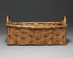 Basket - Date: ca. Old Baskets, Vintage Baskets, American Indian Art, Native American Art, American Indians, Indian Baskets, Maker Culture, Art Watch, Metropolitan Museum