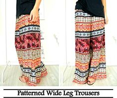 pattern leg trousers. Wish I was brave enough to pull this off