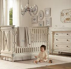 Absolutely love this! ~ Jourdan Crib | Cribs | Restoration Hardware Baby & Child