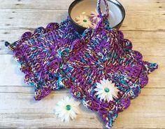 Kitchen Pot Holder Crochet Pot holder by CraftCreationsbyRose