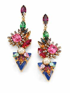 Shop now: Swarovski Crystal Velocity Drop Earrings