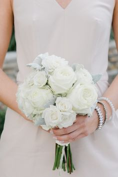 White rose and lambs ear bouquet: http://www.stylemepretty.com/vault/gallery/38343 | Photography: Rachel Pearlman - http://www.rachelpearlmanphotography.com/