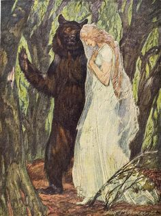 The Faery Prince. Illustration by Adolf Münzer, based on Ben Johnson's masque of the same name. From Jugend magazine, 1925.