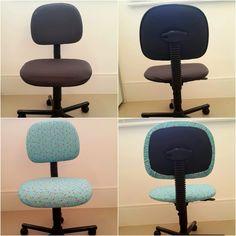 Reformando sua Cadeira do Escritório - Capa para Cadeira - DIY Office Ch...