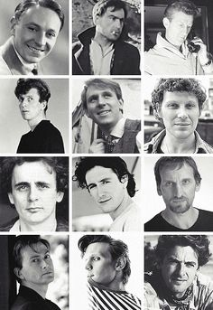 Oh the young HOMG (Holy Mother of Galifrey) William Hartnell looks so young!<<I love how Matt smith and Peter Davison look the same as they did when they were the Doctor XD First Doctor, Tenth Doctor, Sylvester Mccoy, Peter Davison, William Hartnell, Hello Sweetie, Don't Blink, Peter Capaldi, Cosplay